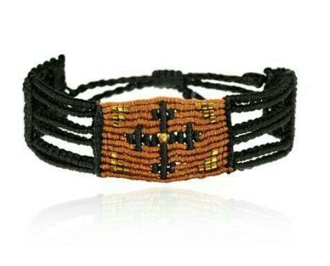 Handmade by zoe kompitsi macrame bracelet with cross