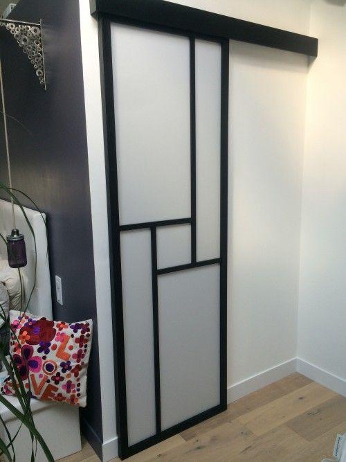 154 best images about cloison japonaise coulissante et porte on pinterest - Installer porte coulissante dans cloison ...