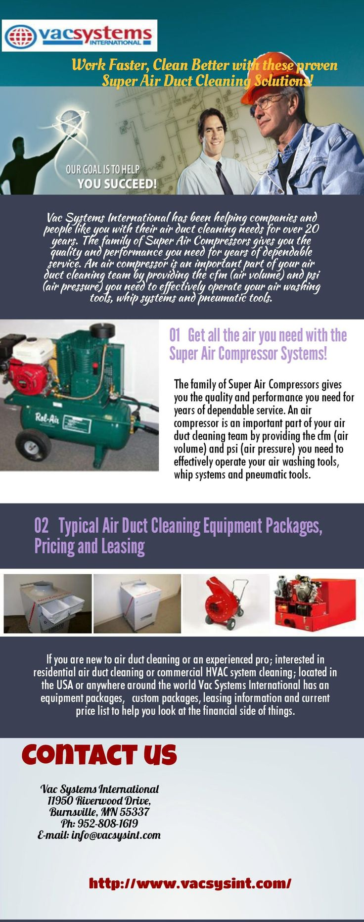 """If you are new to Ductwork Cleaning Tools , then not to worry. Vac Systems International offers these """"field proven"""" duct accessing tools, products and accessories to help you maximize your productivity. Choose from service panels, cap plugs, isolation foam cubes, zone bags, duct mask, magnetic sheets, vari-bit, 2"""" to 12"""" hole cutter, electric shears and more.  All of these items are used every day by residential and commercial air duct cleaning contractors."""