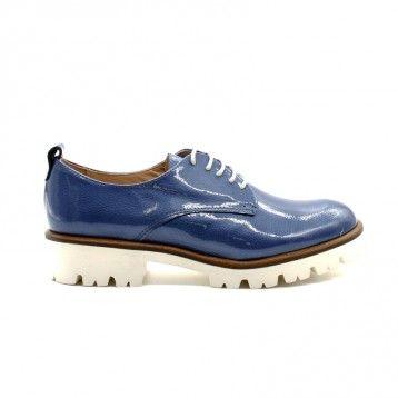 Maypol - Derby Vernis bleu jean