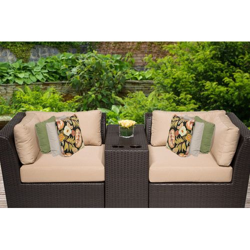 Found it at AllModern - Barbados 3 Piece Seating Group with Cushion