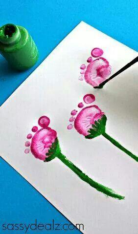 flor com pezinhos