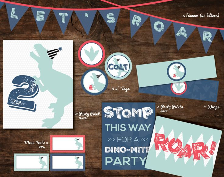 dinosaur party decorations, dinosaur party printables, dinosaur party supplies, dinosaur party pack, dinosaur party banner, dinosaur decor by SpruceAndWillow on Etsy https://www.etsy.com/listing/253083464/dinosaur-party-decorations-dinosaur