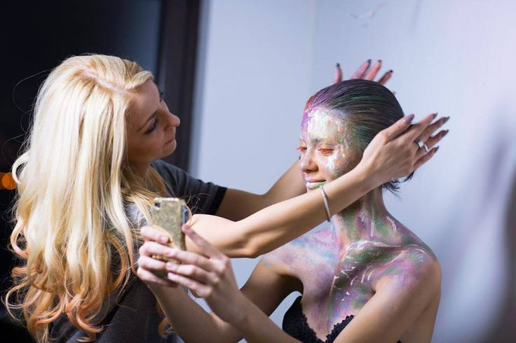 makingof Facepainting step by step for Makeup MAgazine Romania