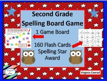 Get kids working on general words that second graders should know how to spell.  There is one game board, 160 spelling word cards, and 1 spelling star award template.  Just copy, laminate, and cut out everything for the game.  Put the word cards in a baggie and the game is ready to go!