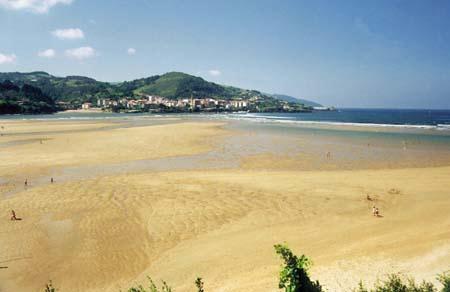 Playa Laida in Vizcaya  Basque Country