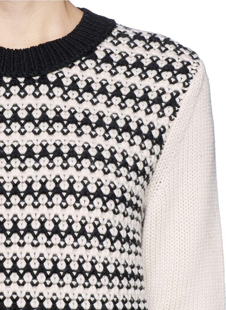 TORY BURCH - 'Maxeen' mix knit sweater | Multi-colour Sweater Knitwear | Womenswear | Lane Crawford