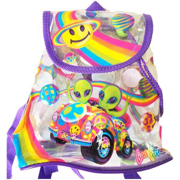 Lisa Frank Aliens Mini Backpack - Rare - 90's Lisa Frank - Alien... ($100) ❤ liked on Polyvore featuring bags, backpacks, blue, lisa frank, vintage backpack, miniature backpack, vintage knapsack, drawstring bag and mini drawstring bags