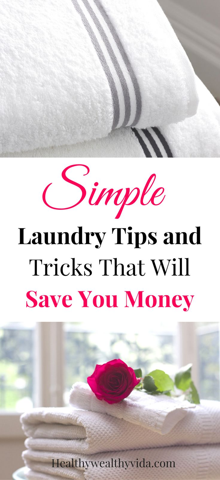 Laundry tips and tricks to save time and money, remove stains, get whites whiter and darks darker