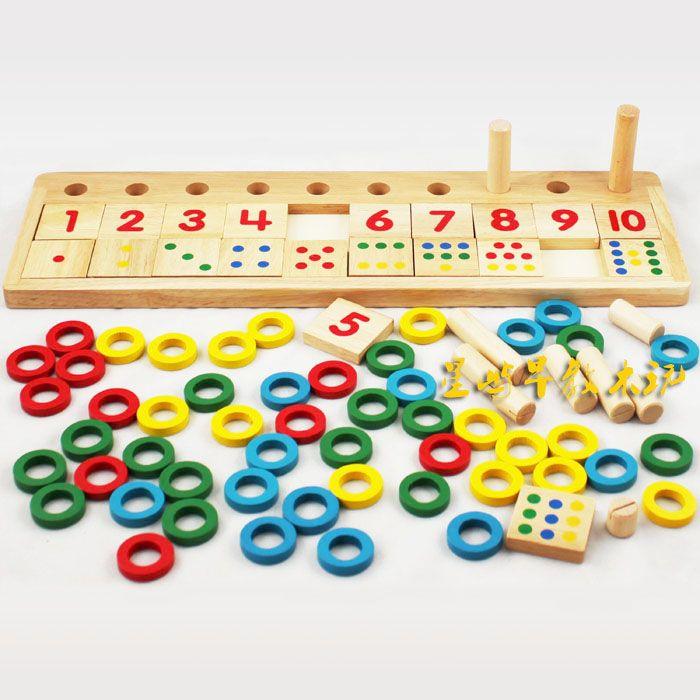 wiskunde educatief houten speelgoed vroeg leren speelgoed digitaal leren board plaat