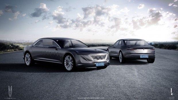 Futurisztikus hibrid luxusautó a lengyelektől