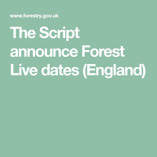 The Script announce Forest Live dates (England)