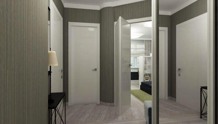 коридор в дизайне интерьера маленькой квартиры-студии