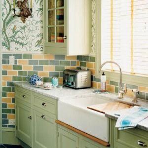 Farrow  Ball Cooking Apple Green.  Given Campbell custom wallpaper.  Designers Jason Oliver Nixon and John Loecke.