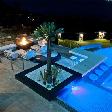 Modern pool bar design for the home pinterest for Pool design with bar