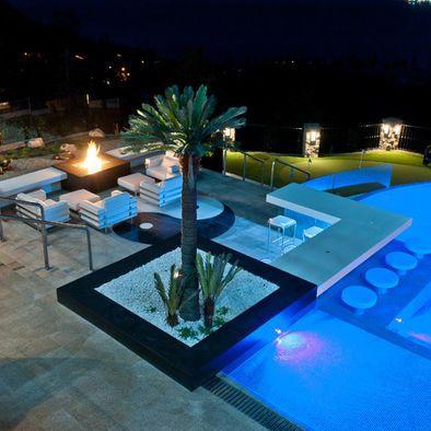 Modern Pool Bar Design