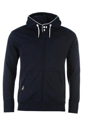 Wholesale Navy Blue with White Trims Fitness Hoodies