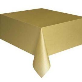 plastic tafelkleed Goud