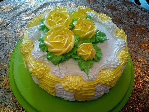 Торт рецепт бисквита ШОКОЛАД на КИПЯТКЕ  Украшаем торт кремом Cake decoration - YouTube
