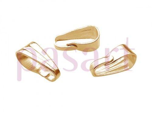 Krawatka ozdobna ze wzorem / kolor złoty, KC Gold / 7mm / 40szt