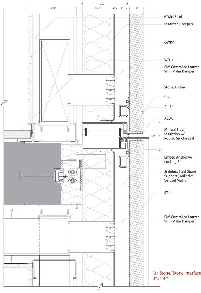 Curtain wall shadow box details for Shadow box plans pdf