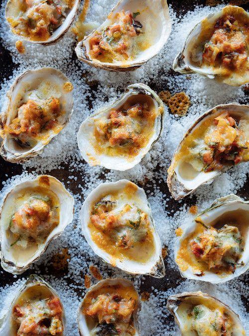 Huîtres au chorizo gratinées