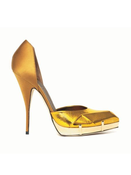 gold-wedding-shoes-stiletto-simple