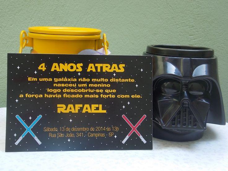 Convite Impresso Star Wars | Rabisco Colorido | Elo7