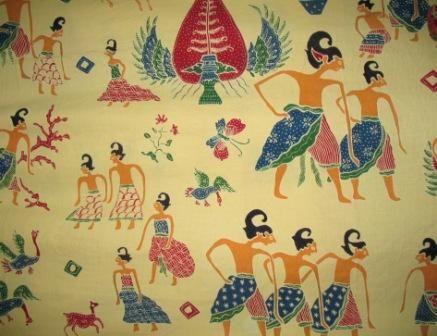 Batik Semarang: wayang motive