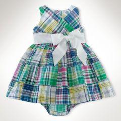 Madras Patchwork Sash Dress - Baby Girl Dresses & Skirts - RalphLauren.com