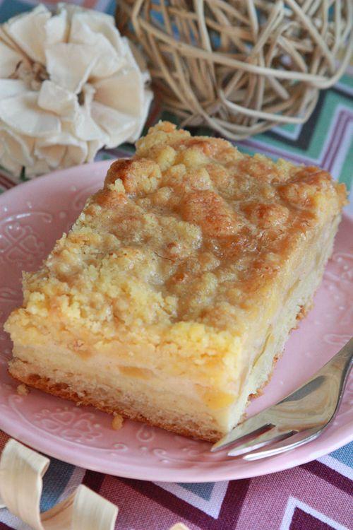 Apfel Karamell Streuselkuchen