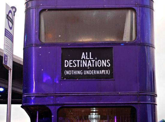 Harry Potter. Night Bus. Harrp Potter Studios tour London. UK. #travel http://worldtravelfamily.com