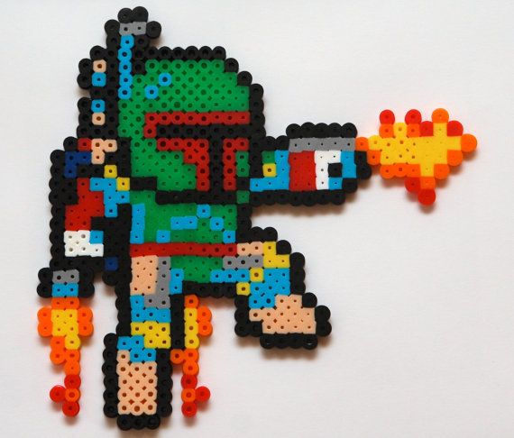 Star Wars Perler Bead Artwork Boba Fett by HothPants on Etsy