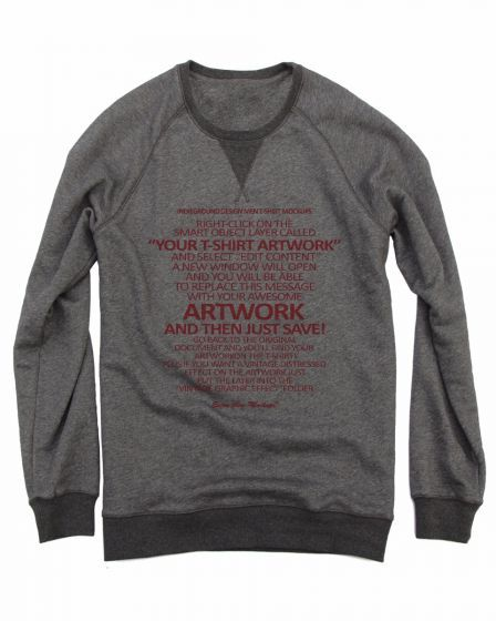 Your t shirt artwork Crewneck Sweater Shirts With Creative Words Grey - True Love Tees !