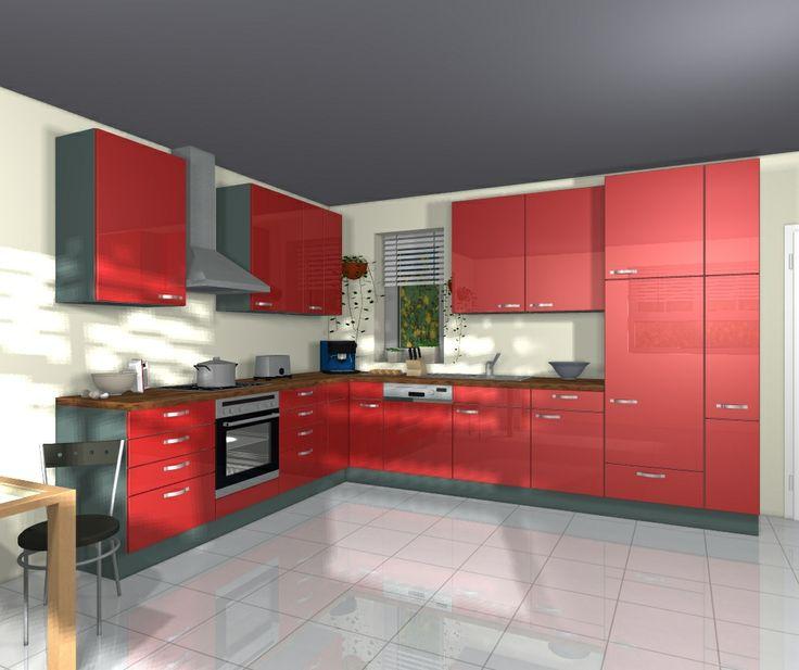 the 25+ best küche rot hochglanz ideas on pinterest | einbauküche, Modernes haus