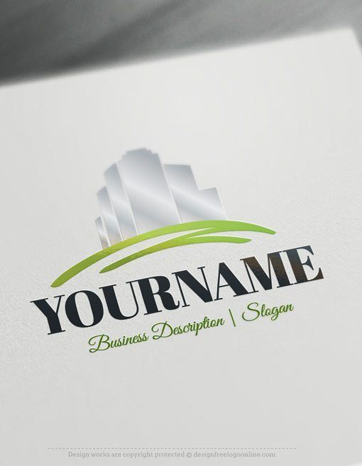 Create a logo Free - Free Logo Maker - House fence Logo Template Ready made Online logo template Decorated with an image of A house and a fence. This professional real estate logos excellent for Architect, interior designer, Construction, Contractor, Real-Estate Agency etc.How to design your logo online? 1- Create a logo with our free logo maker tool - Change you company name, slogan,