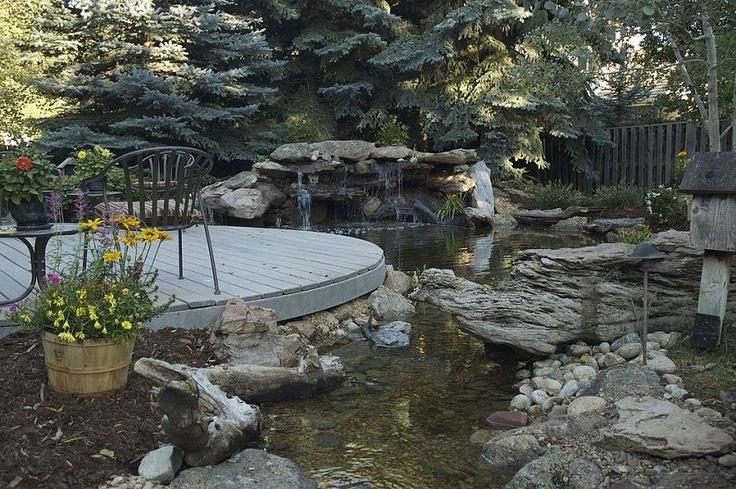 12 best 3 acre landscaping images on pinterest for Koi pool water gardens thornton