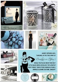 great ideas for a Breakfast at Tiffanys party ~~ from Crafty Lil Momma blog spot