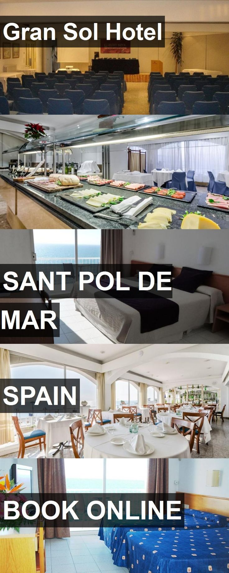 Hotel Gran Sol Hotel in Sant Pol de Mar, Spain. For more information, photos, reviews and best prices please follow the link. #Spain #SantPoldeMar #GranSolHotel #hotel #travel #vacation