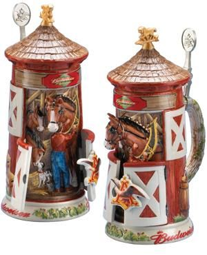 BUDWEISER CLYDESDALE STABLE BEER STEIN