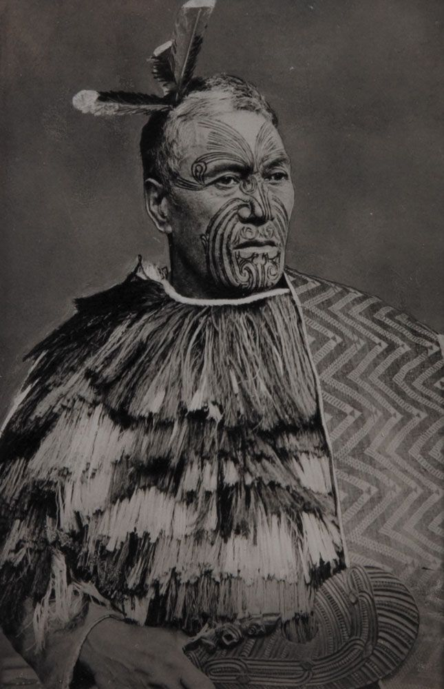New Zealand | Maori Chief | Photographer unknown.