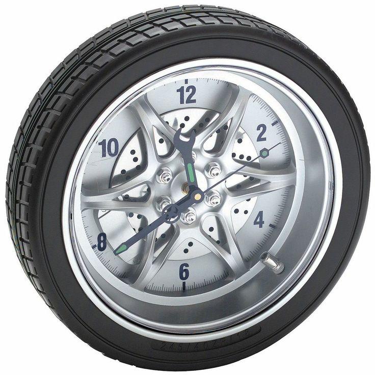 Rally wheel time clock race time tool wall home garage ...