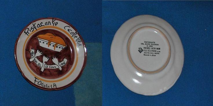 Piatto del Buon Ricordo Ristorante Cicolella  Ceramica Solimene Vietri