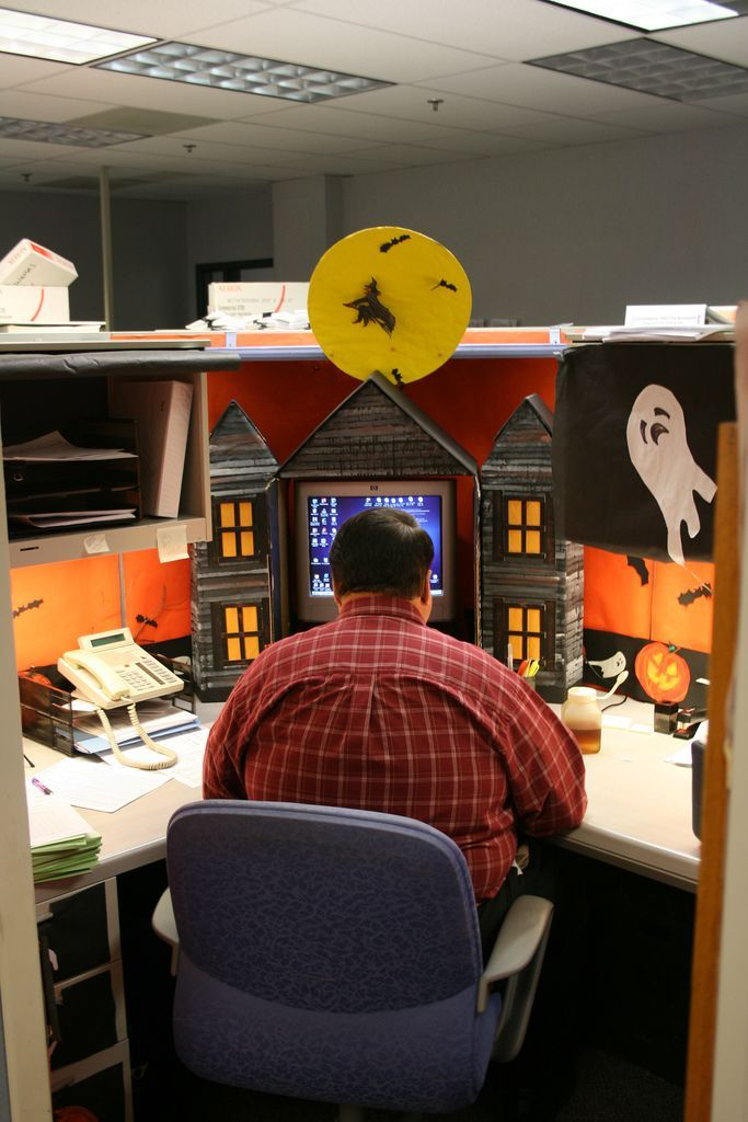 Halloween office decorations - cubicle decoration                                                                                                                                                                                 More