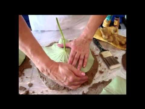 ▶ Concrete Leaf Casting -How To - YouTube