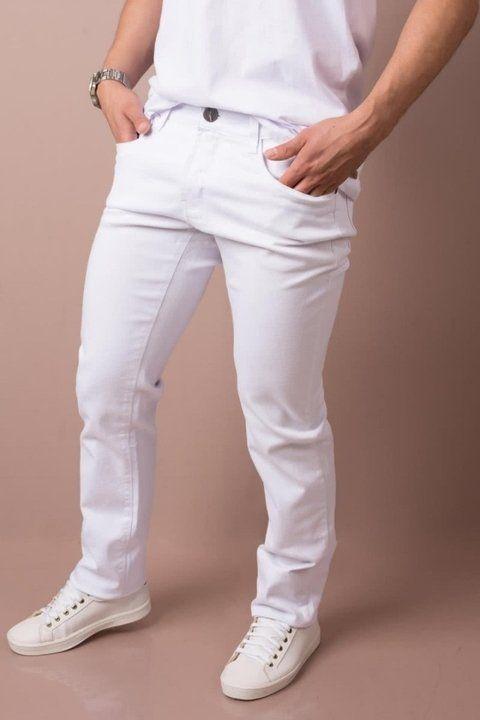 ... Calça jeans masculina branca para médicos, dentistas e afins COMPRE EM  ATÉ 3 X SEM ... 2b08b7a4bf