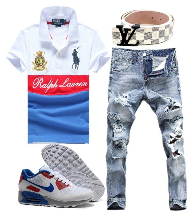 """""""Baby Draco"""" by prettyblackboy on Polyvore featuring NIKE, Polo Ralph Lauren, men's fashion and menswear"""