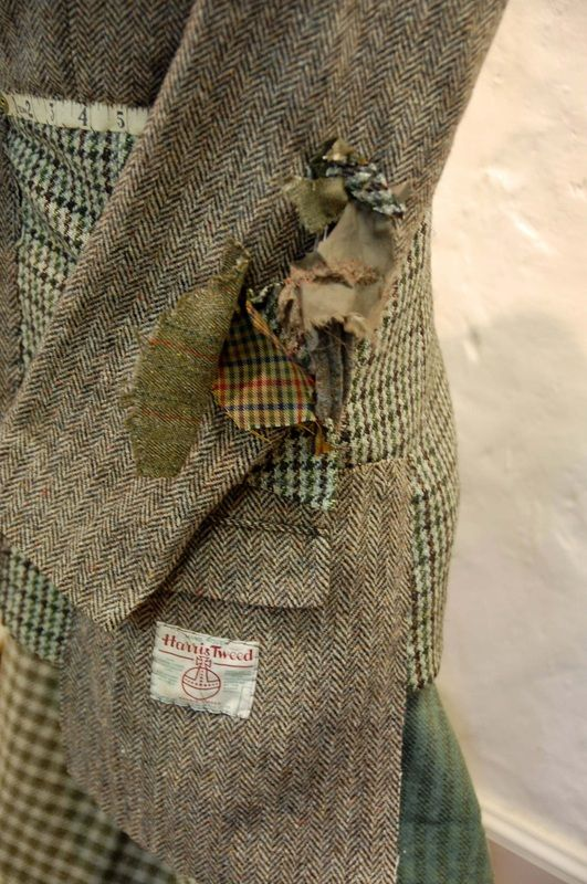Garments - Mandy Pattullo. I love the idea of using old tweed coats for clothing, maybe even pillows or patchwork upholstery.