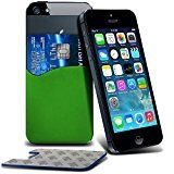 ONX3® ( Green ) Alcatel idol 4 Case Protective Stylish Fitted 3M Silicone Adhesive Smart Credit / Debit Card Pouch