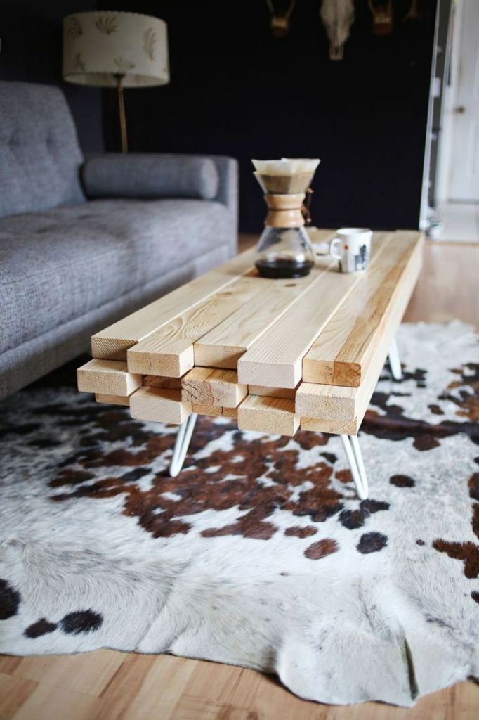 bois, décoration, DIY, mobilier, planches, table basse